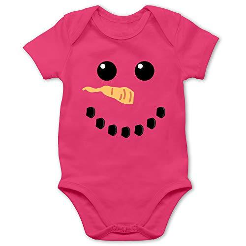 Shirtracer Karneval und Fasching Baby - Schneemann Karneval Kostüm - 3/6 Monate - Fuchsia - Baby Jungs kostüme schneemann - BZ10 - Baby Body Kurzarm für Jungen und Mädchen
