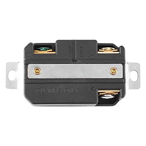 01 Prise Murale Femelle 30A 3 Trous, Prise NEMA L5-30R 125V Twist Lock, pour Se connecter à Un générateur avec Une Prise de Sortie 125V Volt Utilisation générale