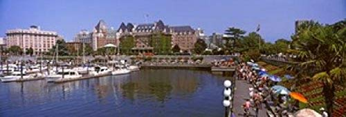 Posterazzi PPI147372S Buildings at The Waterfront Empress Hotel Inner Harbor Victoria Vancouver Island British Columbia Canada Poster Print, 18 x 6