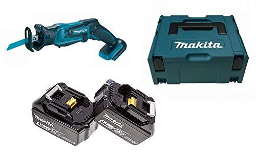 Makita DJR183RTJ - Sierra sabre (incluye 2 baterías de 18 V, 5 Ah, iones de litio, incluye estuche Makpac