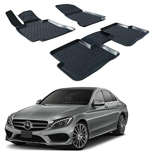 SCOUTT | 3D Tapis DE Sol en Caoutchouc Premium Compatible avec Mercedes C CLAS W205 2014-2021