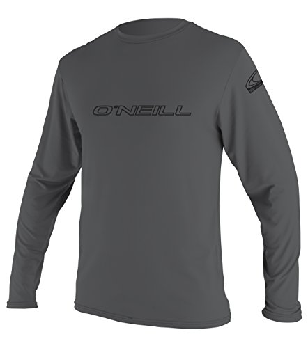 O'Neill Men's Basic Skins UPF 50+ Long Sleeve Sun Shirt, Smoke, M