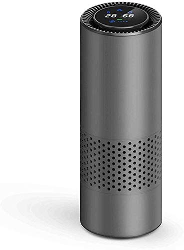 Znesd Household Room air Filter Purifier, Air Purifier,Intelligent HEPA Air Purifier Car/Nature Fresh Air Purifier Best for Car Home Office Auto Accessories for Travel Purifier (Color : Gray)