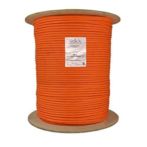 500m Cat.7 Gigabit Kabel Netzwerkkabel Installationskabel Verlegekabel Cat7 Datenkabel Orange 1000MHz, Made in Germany