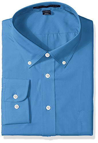 D & Jones Men's Solid Perfect Pima Interlock Polo, French Blue, X-Large