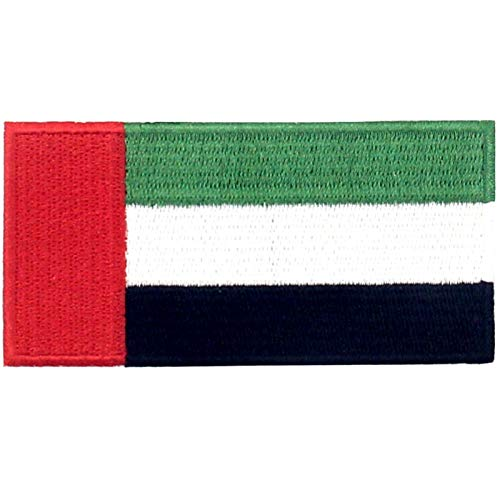 La bandera de los Emiratos Árabes Unidos Parche Bordado de Aplicación con Plancha