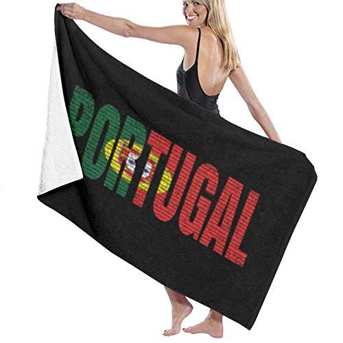 WH-CLA Beach Towel Portugal País Vintage Bandera Nacional Portuguesa Microfibra Ligera Navidad 80X130Cm Toalla De Playa De Secado Rápido Toallas De Baño Altamente Absorbentes para Viajes
