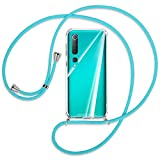 mtb more energy® Collar Smartphone para Xiaomi Mi 10, Mi 10 Pro (6.67'') - Turquesa - Funda...
