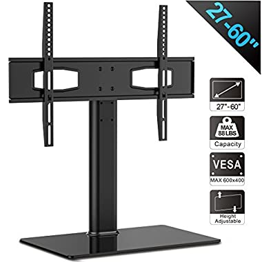 Fitueyes Universal TV Stand/ Base Tabletop TV Stand with Mount for up to 60 inch Flat screen Tvs Vizio/Sumsung/Sony Tvs/xbox One/tv components Max VESA 400x600 TT105201GB