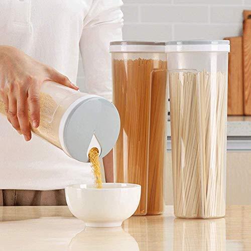 1 Stück Nudel-Aufbewahrungsbox für Spaghetti Pasta, Behälter, Müsli, Snacks, zucker versiegelte Behälter, Aufbewahrungsbehälter, Getreidebehälter 4,1 * 11,3Zoll Farbe zufällig