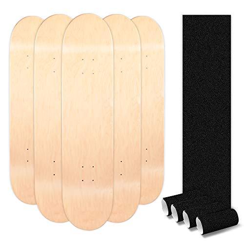 LOSENKA Maple Skateboard Decks Double Tail Skateboard Light Decks Free Skateboard Grip Tape 5 PCS