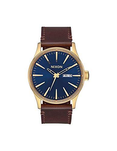 Nixon Reloj Analógico para de los Hombres de Cuarzo japonés con Correa en Cuero Genuino A105-3320-00