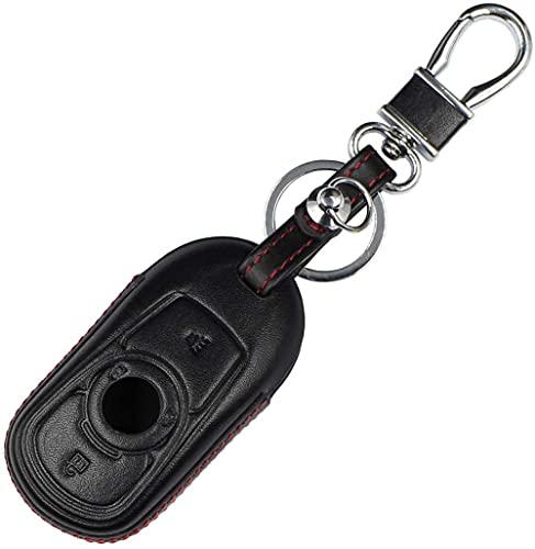 SENDIAYR Leder Schlüsseletui Halterung Schlüsselbund Tasche Schutzhülle Jacke Skin Schlüsselanhänger Schlüssel Shell,für Buick Smart Remote Keyless 2 3 4 Tastenschlüssel