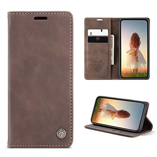 FullProtecter CaseMe Cover iPhone 7/8/SE 2020,Cover a Libro iPhone 7/8/SE 2020,Custodia in Pelle Premium Magnetica Portafoglio Custodie Case Caso per iPhone 7/8/SE 2020,caffè