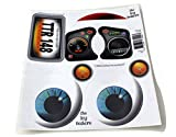 The Toy Restore Replacement Stickers Spare Decals Kit Fits Little Tikes Newer Custom Cozy Coupe Ride-on Car (has Eyes for Headlights) Blue Eyes