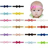 YHXX YLEN 20 Stück Baby Mädchen Haar Bogen Haar Bands Elastische Stirnbänder mit 2.7' Haar Bogen für Kleinkind Neugeborene