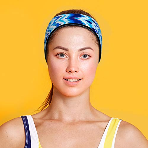 Swimming Headband with Earplugs for Adults by Will & Fox | Helps Prevent Swimmers Ear | Non-Slip Grip | Adjustable Ear Band | Fits Kids 10+ to Adults | Tie-Dye, Large