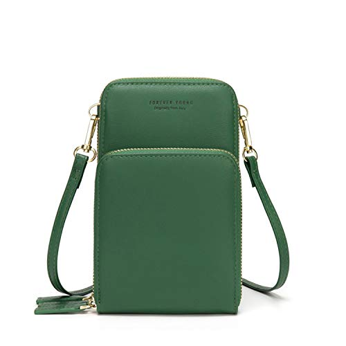 Colorful Bag Daily Use Card Holder Small Summer Shoulder Bag For Women-C-Deep Green-12x7x20cm
