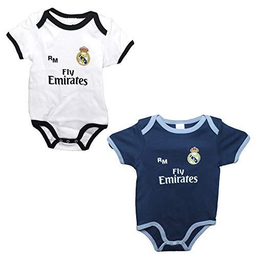 Personalizador Set 2 Body Real Madrid Niños - Producto Oficial - Temporada 2018/2019 (9 Meses)