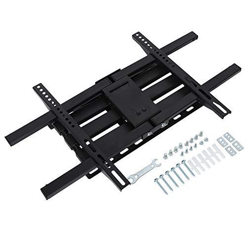 Gototop gebogener TV-Ständer, groß, gebogene TV-Wandhalterung, neigbar, zweifacher Gelenkarm, teleskopierbar für 81,3–177,8 cm