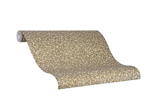 Tapete Gold Uni - Kollektion Glööckler Imperial von marburg - für Schlafzimmer, Wohnzimmer oder Küche - Made in Germany - 10,05m x 0,70m