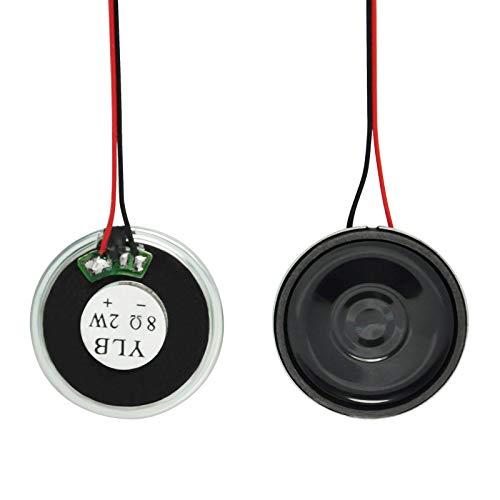 Gikfun EK1887U Mikro-Lautsprecher, rund, Durchmesser 30 mm, 8 Ohm, 8R 2 W, für Arduino Mini-Box-Lautsprecher, 2 Stück