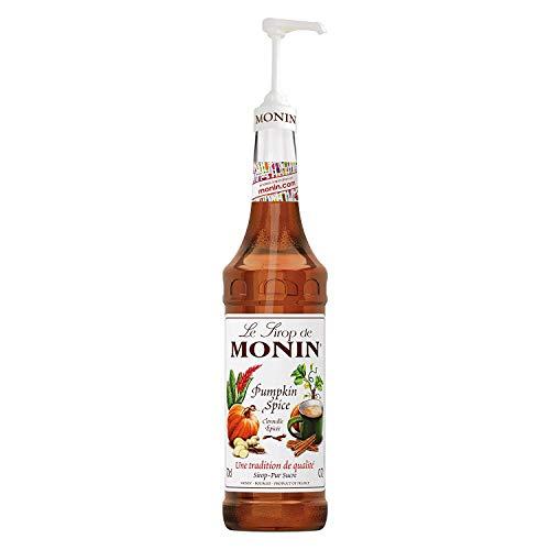 Monin Pumpkin Spice (Würzige Kürbis) Sirup 0,7 Liter mit Pumpe