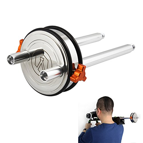 TARION 1,5kg Balancegewicht Balance Block Gewicht Counterweight Gegengewicht für Schulterstativ (Inkl. 2 x 15mm Rohr)