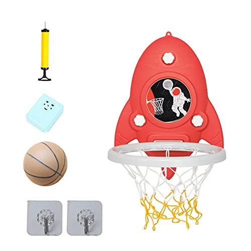 Qagazine Mini Baloncesto Hoop Set Mini Baloncesto Aro Ajustable Altura Sin Punzón Bola Trasero Juguetes para Niños