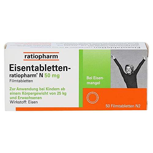 Eisentabletten ratiopharm N 50 mg Filmtabletten, 50 St