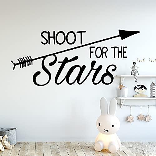 Hermosa estrella fugaz calcomanía pegatinas de pared decoración del hogar decoración de la habitación de los niños pegatinas de pared de vinilo -45x102cm