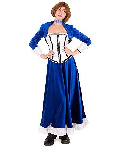 Miccostumes Damen Elizabeth Cosplay Kostüm Anna Dewitt Blau Outfit - Blau - Medium