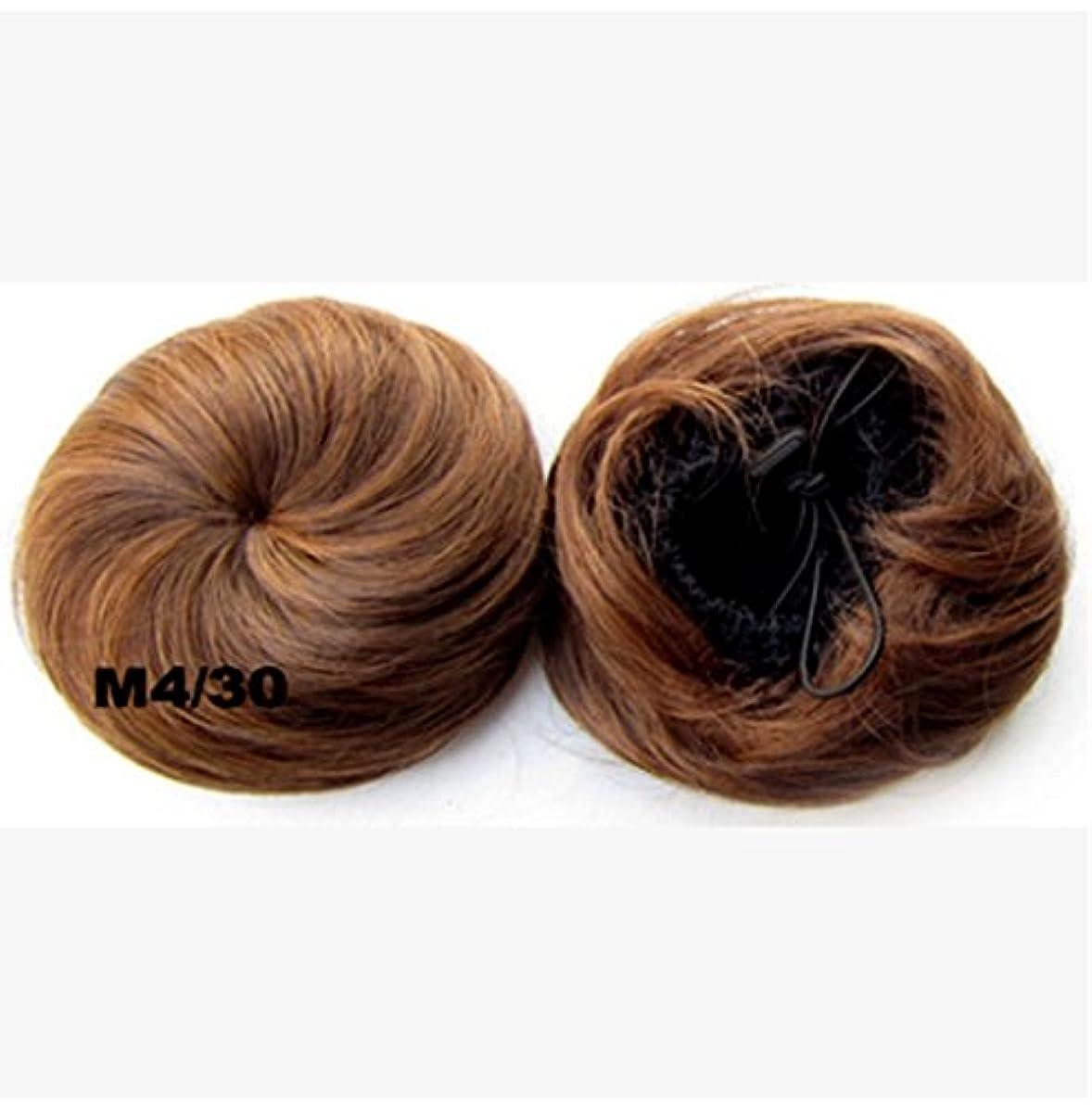 変える単位同様にKoloeplf 色の選択の様々なヘアバンの拡張自然な通常のミートボールヘアウィッグとヘアバッグ (Color : 金色)