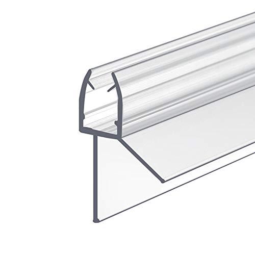 IMPTS Dichtung Dusche 100 cm für Duschtür mit Glasstärke 5mm / 6mm Ersatz Duschdichtung Mit verlängerten Gummilippen für trockenen Boden im Bad (1 Stück)