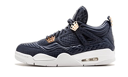 Nike Mens Air Jordan 4 Retro Premium Pinnacle Obsidian/White Leather Size 12