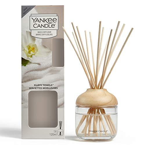 YANKEE CANDLE Diffusore di Aroma a Bastoncini, Asciugamani Morbidi, 120 ml, Durata della fragranza: Fino a 10 Settimane