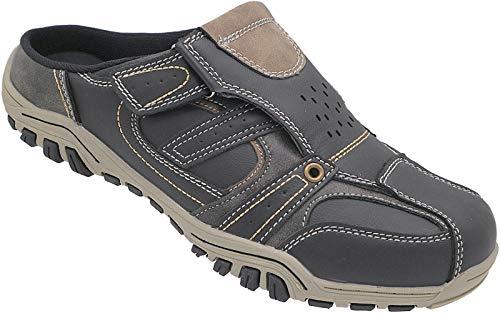 Herren Sabots Schuhe Sandalette Pantoletten Slipper Art.Nr.661 (schwarz, 42)
