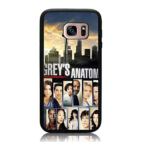 Galaxy S7 Case, Grey's Anatomy Collage Print Cover Soft TPU & Hard Back Shock Drop Proof Impact Resist Protective Case for Samsung Galaxy S7