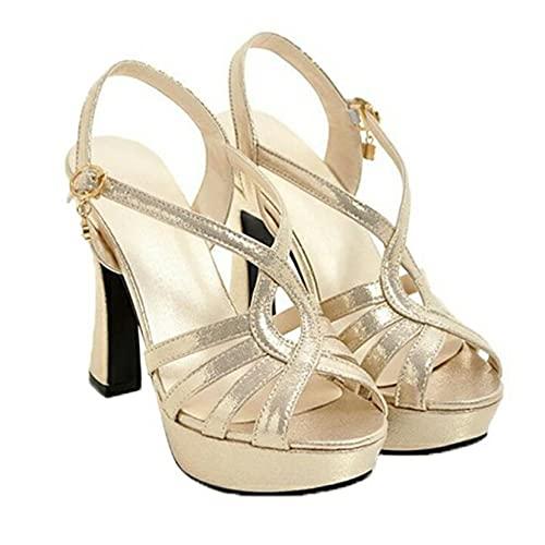 Sandalias de tacón alto de verano para mujer, sandalias de plataforma con...