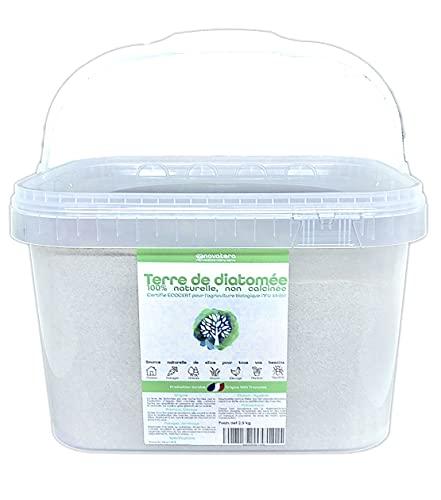 NOVATERA Terre de Diatomée 100% Naturelle - 2,5 kg - Garantie Origine France - Ultrapure - Formats 0,3 à 12 kg - Protection écologique - ECOCERT Utilisable Agriculture Biologique