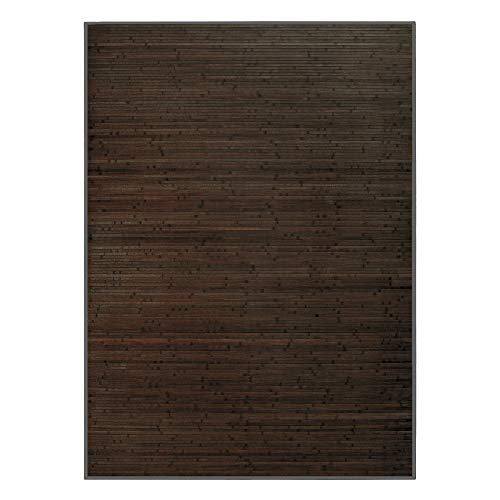 Alfombra de Salón o Comedor, Wengué, de Bambú Natural 140 X 200cm Natur 140x200 - Hogar y Más