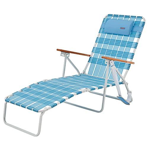 WEJOY アウトドア ベッド 折りたたみベッド サマーベッド ビーチベッド リクライニングチェア 5段階調整 ガーデン ベランダ ラウンジチェア