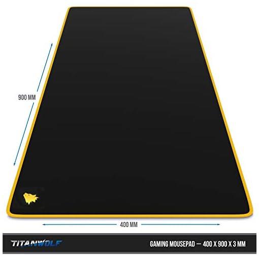 Alfombrilla de ratón para Gaming 900x400 mm - Mousepad XXL para ratón Grande con diseño - Base de Mesa de tamaño Grande… 2