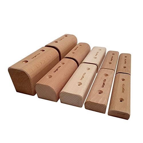 target10a Campus Grips - 2 Stück - Klettergriffe aus Holz (XL (58mm))