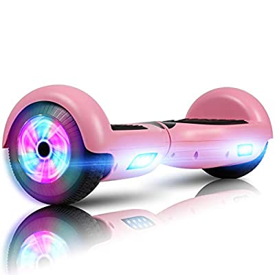 """LIEAGLE Hoverboard, 6.5"""" Self Balancing Scooter Hover Board with UL2272 Certified Wheels LED Lights for Kids Adults(Pink)"""