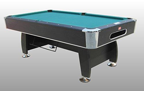 Tavolo da Biliardo regolamentare Black Norman (Panno Verde) - Carambola - (216 cm x 123 cm x 82 cm) - Completo di Tutti Gli Accessori