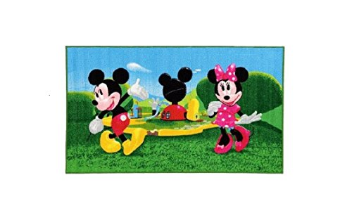 Bavaria Home Style Collection - Tappeto per Bambini con Topolino e Minnie, Circa 140 x 80 cm