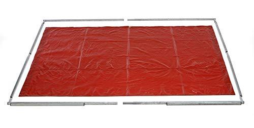 Tusker - Pantalla de soldadura portátil con PVC de soldadura ámbar y bolsa de transporte de 1.83 m x 1.83 m (6 pies x 6 pies) para un fácil transporte y almacenamiento