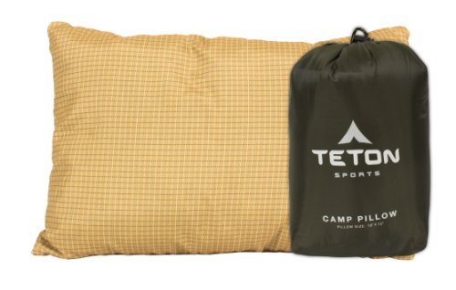TETON Sports Camp Pillow; Great for Travel, Camping and Backpacking; Washable, Green