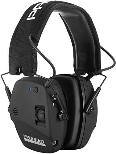 PROHEAR 030BT Bluetooth Casco Tiro Electrónica, Adulto Activo Ajustable Reducción De Ruido, Protecciones Para Los Oídos Caza Amplificador De Sonido, Ideal Para El Deporte De Airsoft Al Aire Libre